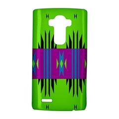 Tribal shapes on a green background 			LG G4 Hardshell Case