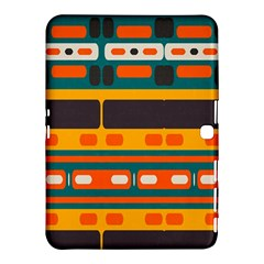 Rectangles In Retro Colors Texture 			samsung Galaxy Tab 4 (10 1 ) Hardshell Case