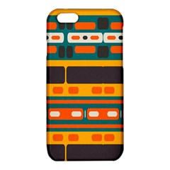 Rectangles in retro colors texture 			iPhone 6/6S TPU Case