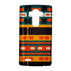 Rectangles in retro colors texture 			LG G4 Hardshell Case