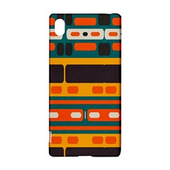 Rectangles in retro colors texture 			Sony Xperia Z3+ Hardshell Case