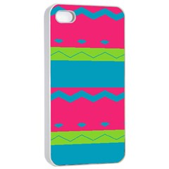 Chevrons And Stripes  apple Iphone 4/4s Seamless Case (white)