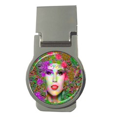 Flowers In Your Hair Money Clips (round)