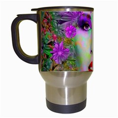 Flowers In Your Hair Travel Mugs (white)