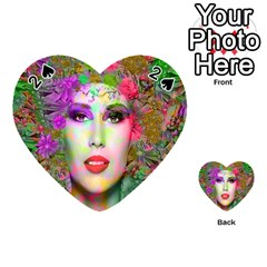 Flowers In Your Hair Playing Cards 54 (heart)