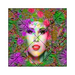 Flowers In Your Hair Acrylic Tangram Puzzle (6  X 6 )