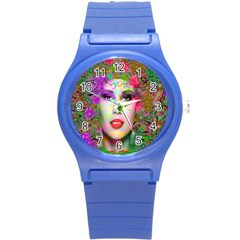 Flowers In Your Hair Round Plastic Sport Watch (s)