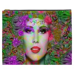Flowers In Your Hair Cosmetic Bag (xxxl)