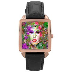 Flowers In Your Hair Rose Gold Watches