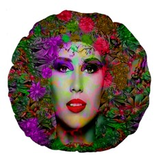 Flowers In Your Hair Large 18  Premium Flano Round Cushions