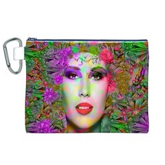 Flowers In Your Hair Canvas Cosmetic Bag (XL)