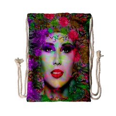 Flowers In Your Hair Drawstring Bag (small)