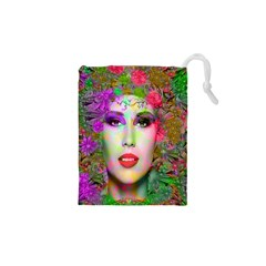 Flowers In Your Hair Drawstring Pouches (XS)
