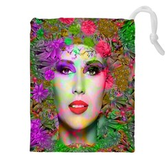 Flowers In Your Hair Drawstring Pouches (xxl)
