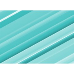 Teal And White Fun Birthday Cake 3d Greeting Card (7x5)