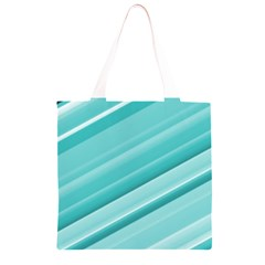 Teal and White Fun Grocery Light Tote Bag