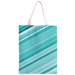 Teal and White Fun Classic Light Tote Bag