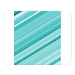 Teal And White Fun Double Sided Flano Blanket (large)