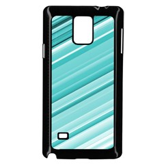 Teal And White Fun Samsung Galaxy Note 4 Case (black)