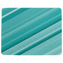 Teal and White Fun Jigsaw Puzzle Photo Stand (Rectangular)