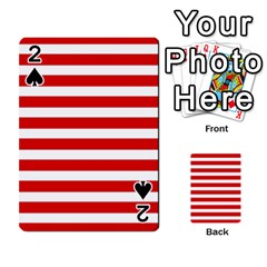 Red And White Stripes Playing Cards 54 Designs