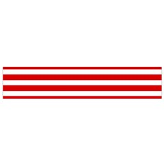 Red And White Stripes Flano Scarf (small)
