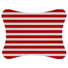 Red and White Stripes Jigsaw Puzzle Photo Stand (Bow)