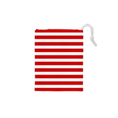 Red And White Stripes Drawstring Pouches (xs)