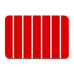 White And Red Stripes Plate Mats