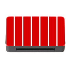 White And Red Stripes Memory Card Reader With Cf