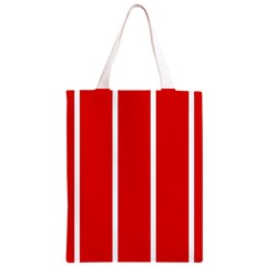 White and Red Stripes Classic Light Tote Bag