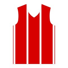 White and Red Stripes Men s Basketball Tank Top