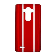 White and Red Stripes LG G4 Hardshell Case