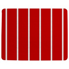 White and Red Stripes Jigsaw Puzzle Photo Stand (Rectangular)