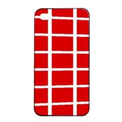 Red Cubes Stripes Apple Iphone 4/4s Seamless Case (black)