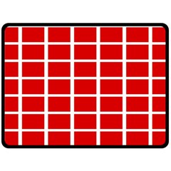 Red Cubes Stripes Double Sided Fleece Blanket (large)