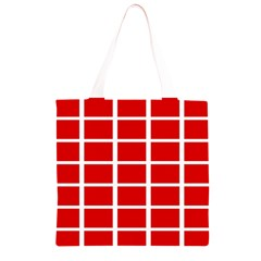 Red Cubes stripes Grocery Light Tote Bag