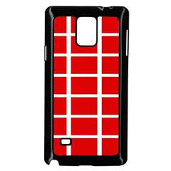 Red Cubes Stripes Samsung Galaxy Note 4 Case (black)