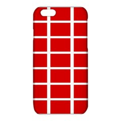 Red Cubes stripes iPhone 6/6S TPU Case