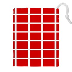 Red Cubes Stripes Drawstring Pouches (xxl)