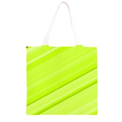 Bright Green Stripes Grocery Light Tote Bag
