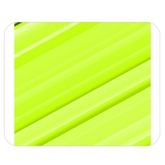 Bright Green Stripes Double Sided Flano Blanket (medium)