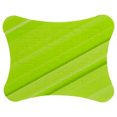 Bright Green Stripes Jigsaw Puzzle Photo Stand (Bow)