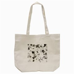 Gray And Silver Cubes Abstract Tote Bag (cream)