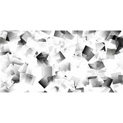 Gray And Silver Cubes Abstract You Are Invited 3d Greeting Card (8x4)