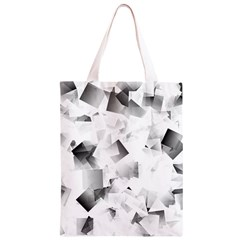 Gray and Silver Cubes Abstract Classic Light Tote Bag