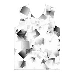 Gray and Silver Cubes Abstract Men s Basketball Tank Top
