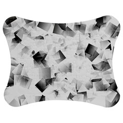 Gray And Silver Cubes Abstract Jigsaw Puzzle Photo Stand (bow)