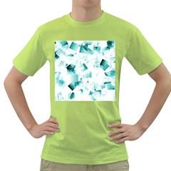 Modern Teal Cubes Green T Shirt