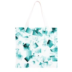 Modern Teal Cubes Grocery Light Tote Bag